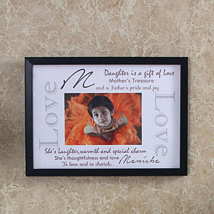 personalized frame for daughter day:Personalised Photo Frames For Birthday