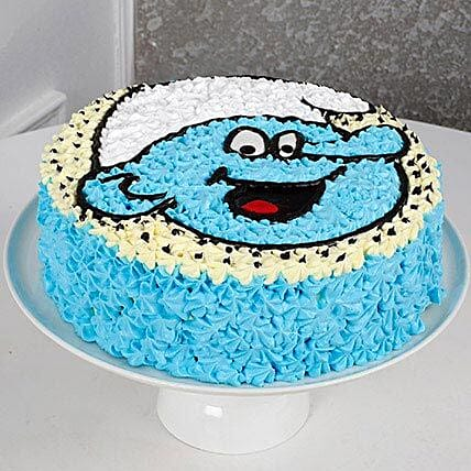 Cute Smurf Cream Chocolate Cake 2kg