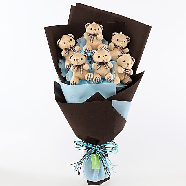 Cute Teddy Bouquet Online