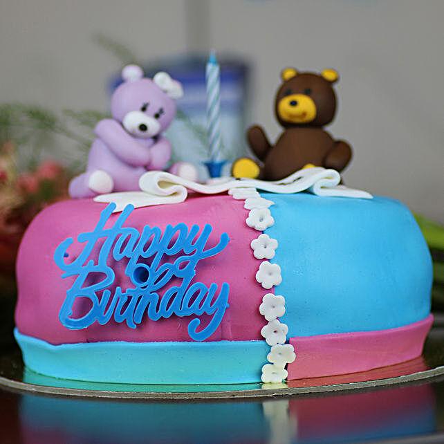 Cute Teddy Happy Birthday Cake