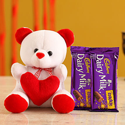 Valentines Teddy Bear & Chocolates for Wife:Propose Day Soft Toys