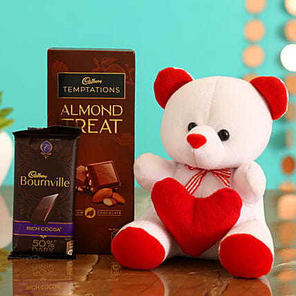 Valentines Day Gift Combo for Wife:Teddy Day Gifts