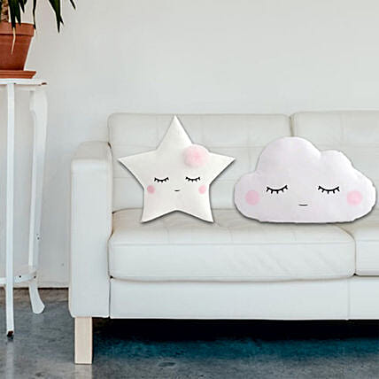 D Y Cloud Star Shaped Cushion Pillow Set Of 2