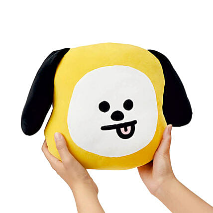 D Y Yellow Doggy Shaped Cushion Pillow