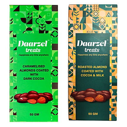 Daarzel Treats Caramelised And Roasted Almonds Chocolate Combo