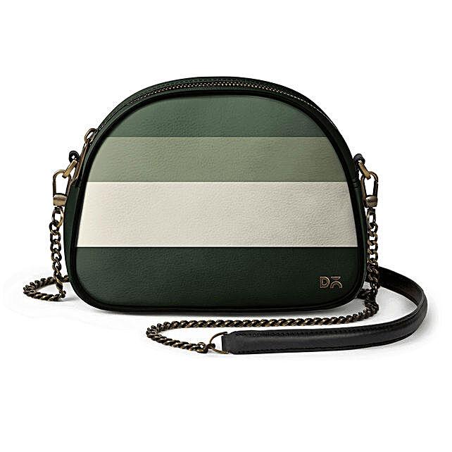 Online Green Quad- Arch Crossbody Bag