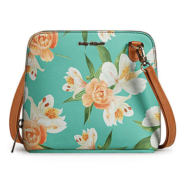 Online Mint Blooms- Trapeze Crossbody Bag