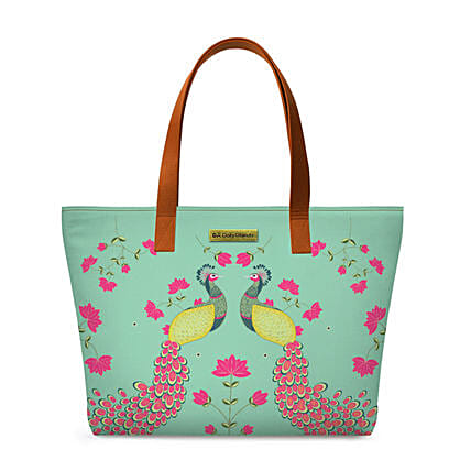 Online Mint Peacocks Fatty Tote Bag:Tote Bags Gifts
