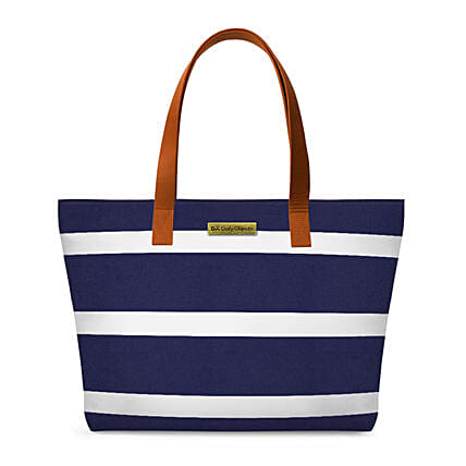 Online Navy & White Fatty Tote Bag