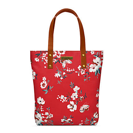 Online Red Buterflies Classic Tote Bag