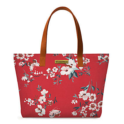 Online Red Buterflies Fatty Tote Bag