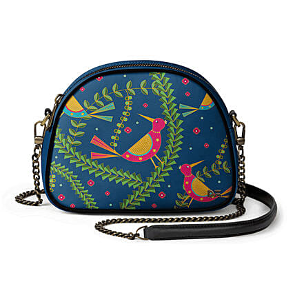 Online Teal Birds- Arch Crossbody Bag