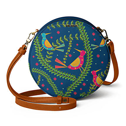 Online Teal Birds- Orbis Crossbody Bag