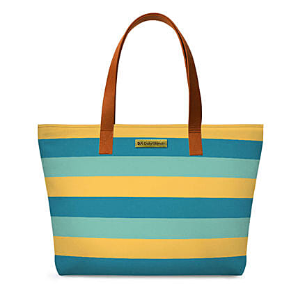Online Tropical Lines Fatty Tote Bag