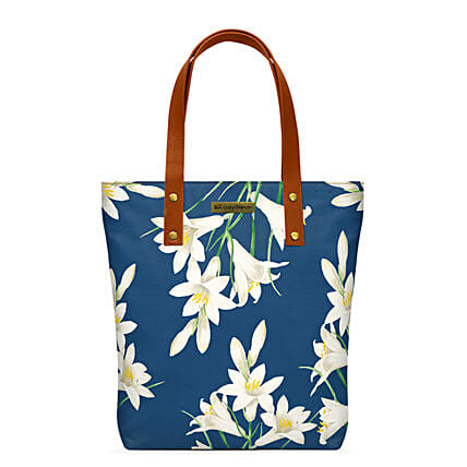 Online White Lillies Classic Tote Bag
