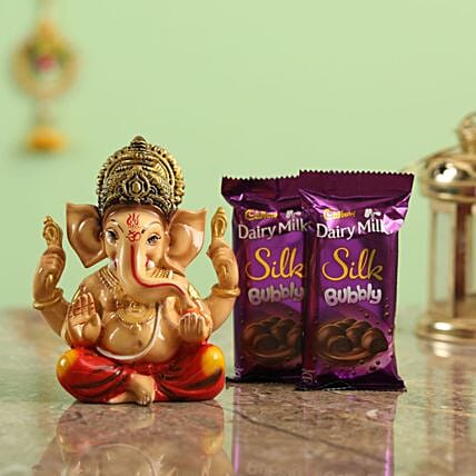 Online Chocolates And  Ganesha Idol
