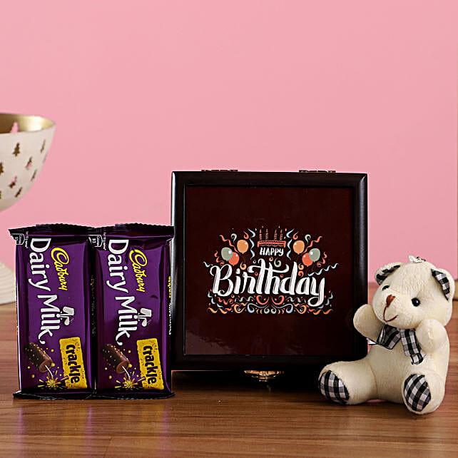 Teddy and Chocolate Box for Birthday:Send Chocolates to Delhi