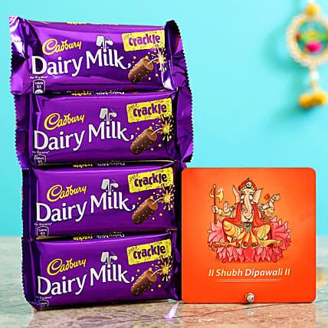 Dairy Milk Crackle & Ganesha Table Top