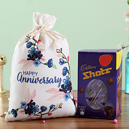 Chocolate Gunny Bag for Anniversary Online