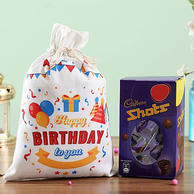 Chocolate Gunny Bag for Birthday Online:Send Chocolates to Delhi