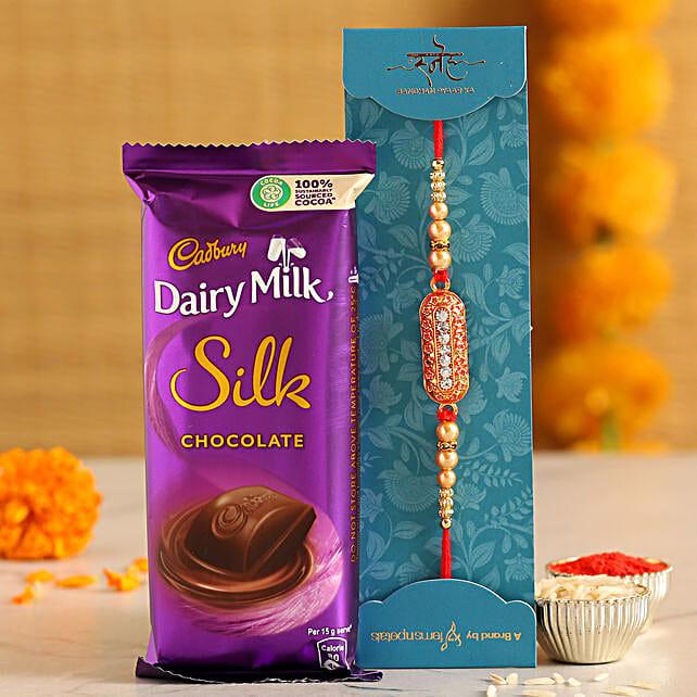 Dairy Milk Silk With Capsule Rakhi