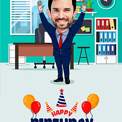 best theme caricature for birthday online