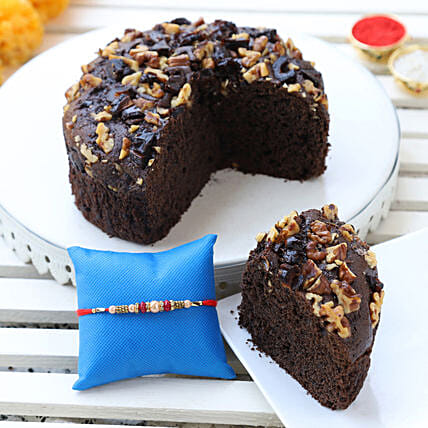 dates & walnuts dry cake & designer rakhi online:Cake Delivery in Mamit