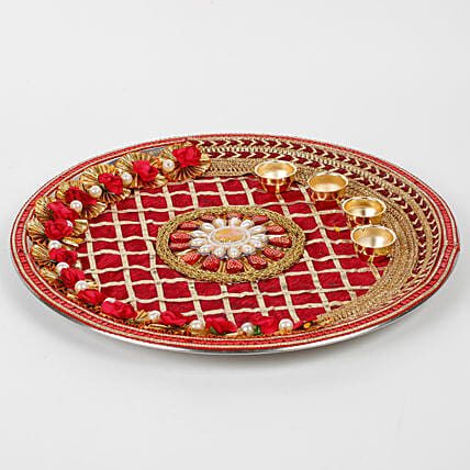 steel thali for karwa chauth