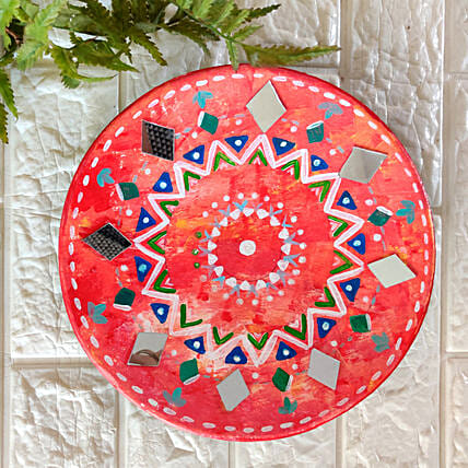 Decorative Mirror Red Wall Plate