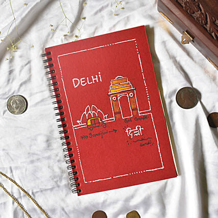 Delhi Handpainted Notebook With Handmade Pages
