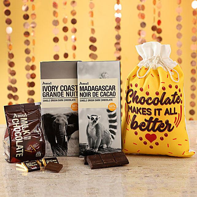 Online Delicious Chocolates In Gunny Bag