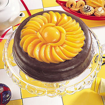 Delicious Choco Fruit Cream Cake