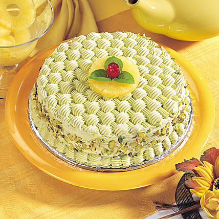 Delicious Coffee With Pista Cake:Coffee Cakes