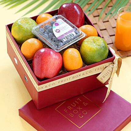online fruit in red colour box