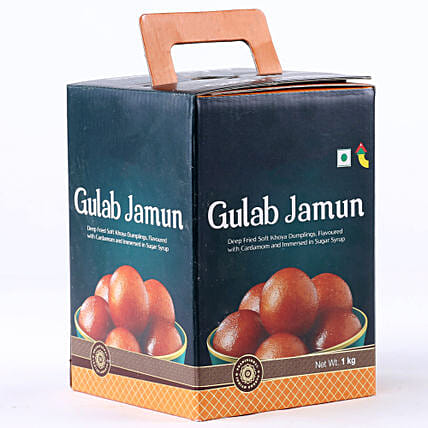 Tin of gulab jamun:Puthandu Gifts