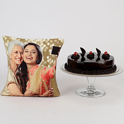 Online Cake with Cushion