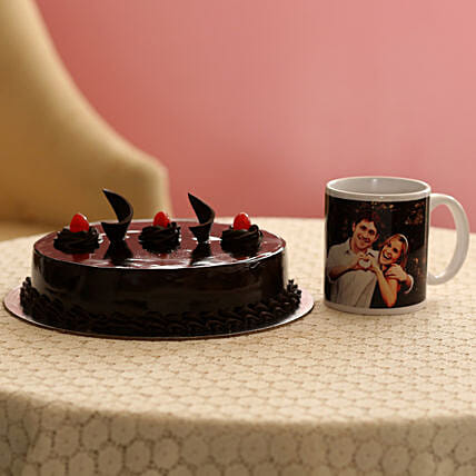 Online Cake with Mug:Cakes N Personalised Gifts
