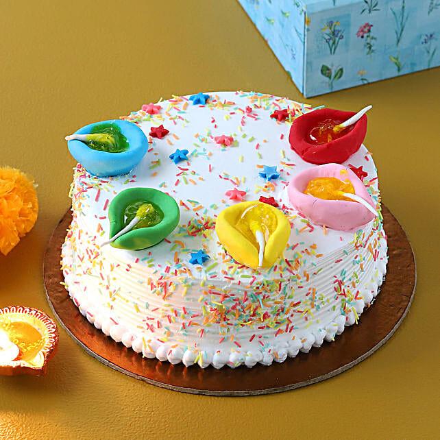 designer cake for diwali online:Diwali Theme Cakes