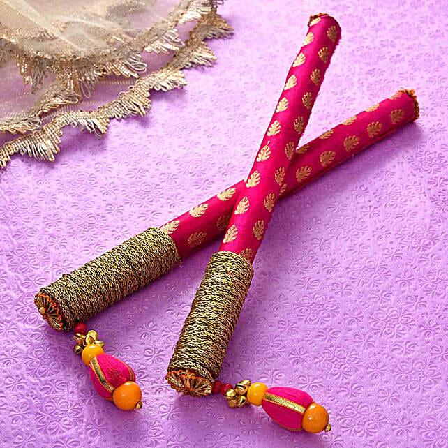 Designer Magenta Dandiya Sticks