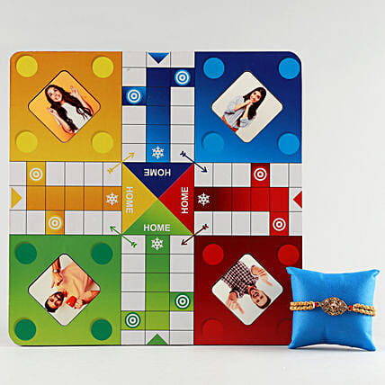 Online Rakhi With Photo Ludo Board