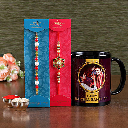 Online Rakhis Set with Mug For Family