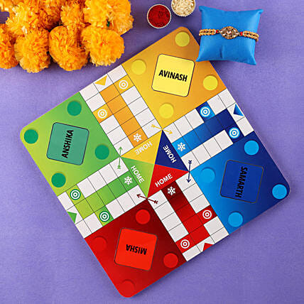 Online Rakhi With Customised Ludo