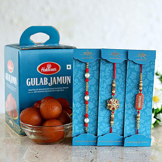 Rakhi Set & Gulab Jamun Online