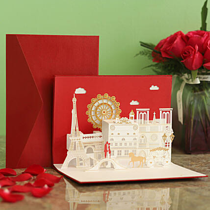Designer Scenery Pop Up 3D Greeting Card