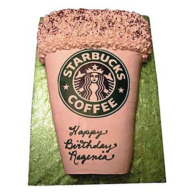 Designer Starbucks Cake 2Kg Chocolate