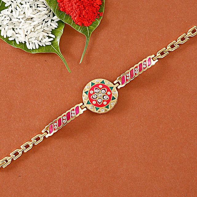 Elegant desginer bracelet rakhi online:Bracelet Rakhi