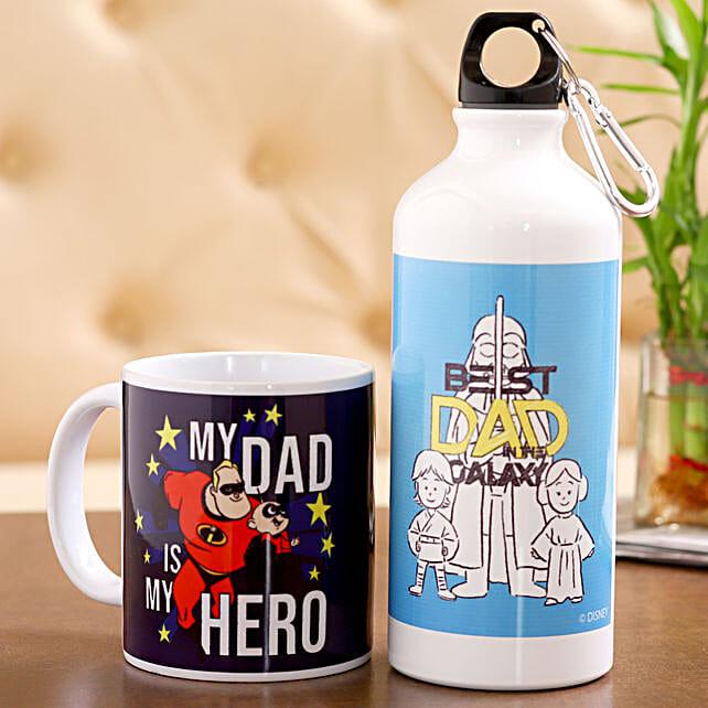 Disney My Superhero Dad Bottle Mug Hand Delivery