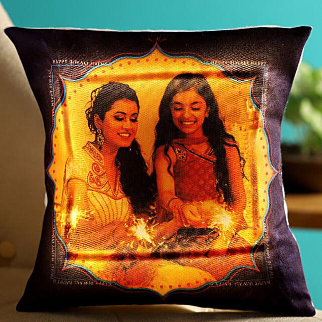 diwali festival photo led cushion online
