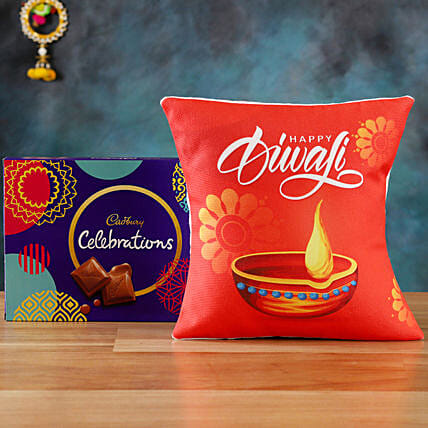 Order Cushion with Cadbury Chocolates:Send Cadbury Chocolates