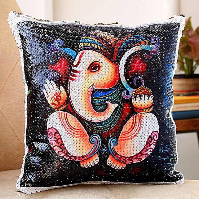 ganesha printed cushion for diwali